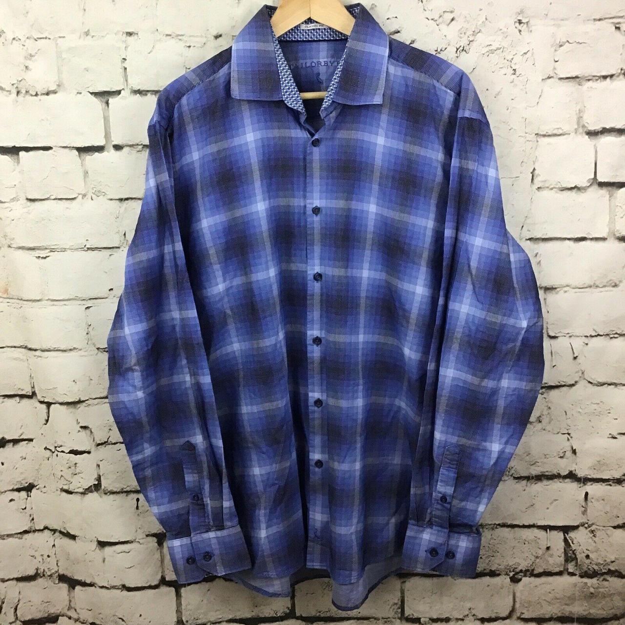 Product Image 1 - Taylorbyrd Mens Blue Plaid Dress