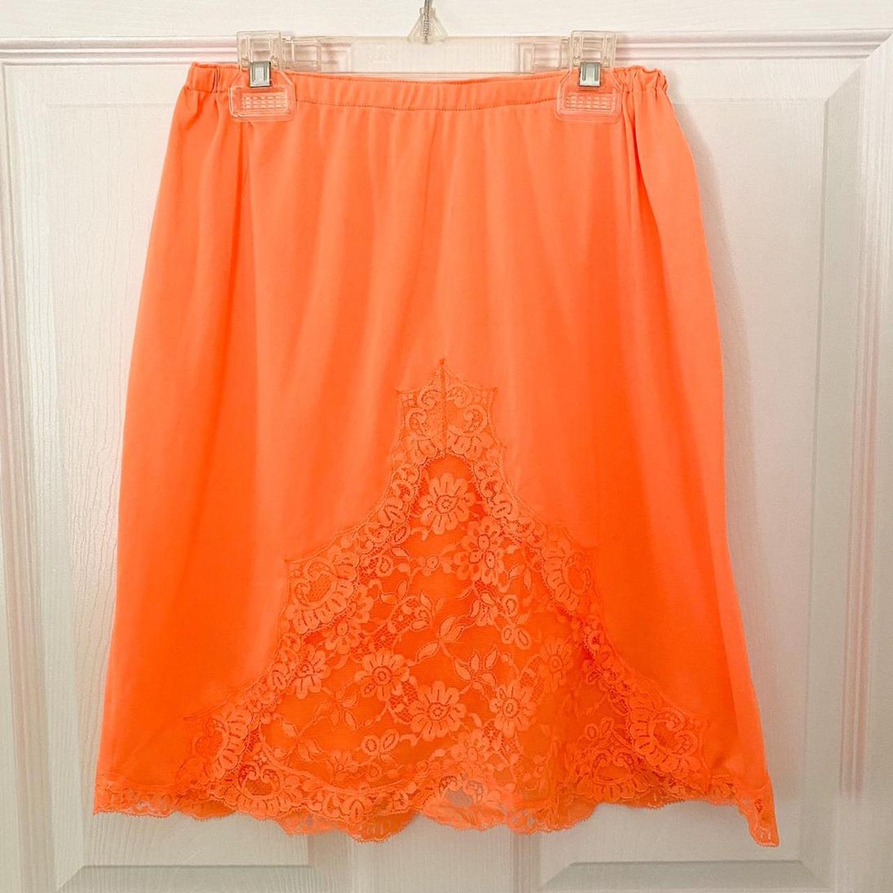 Product Image 1 - Vintage Orange Slip Skirt, Size