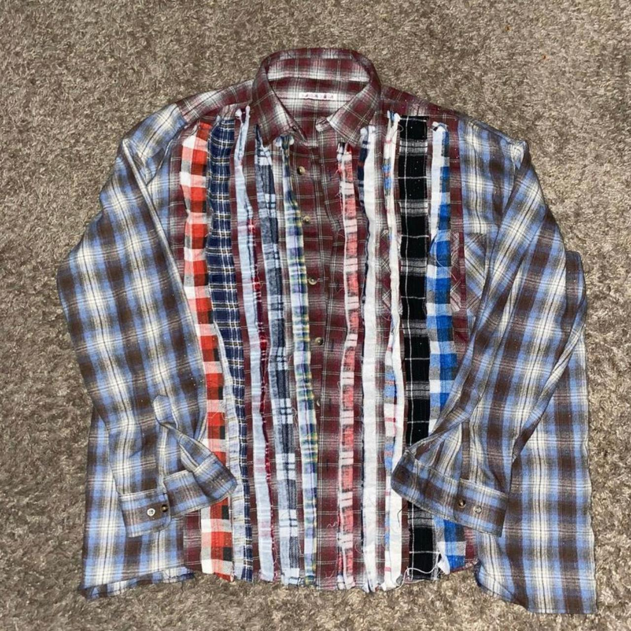 Product Image 1 - needles ribbon flannel 9/10 condition  message before