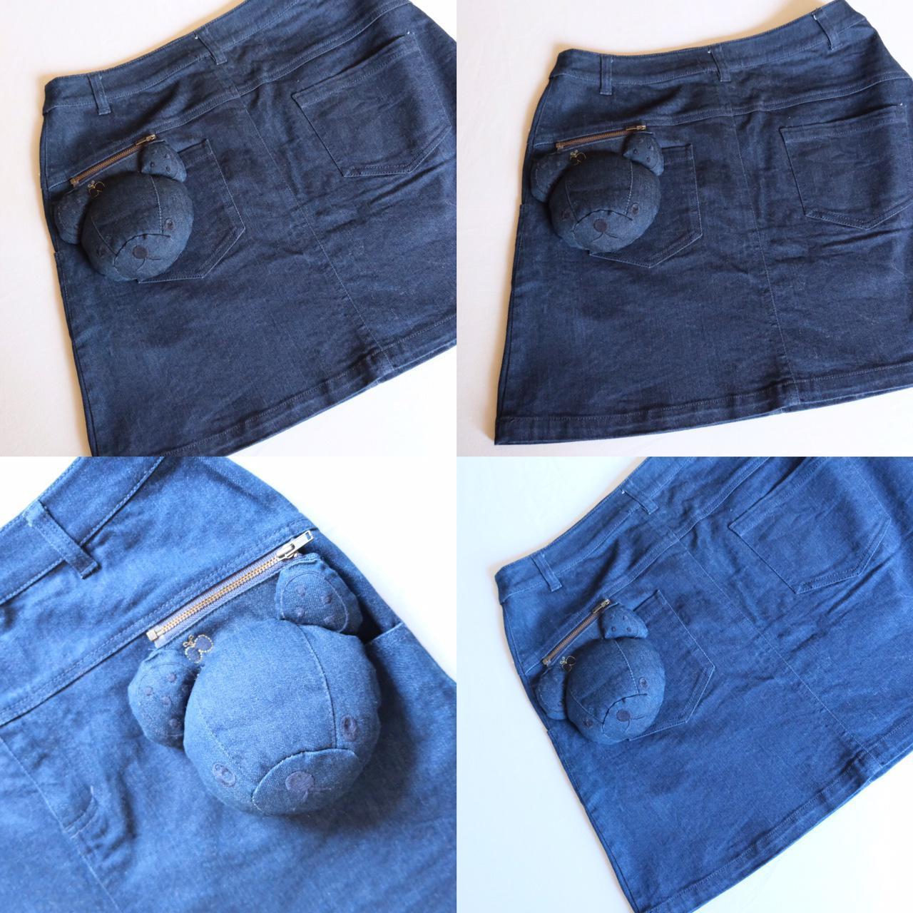 Product Image 1 - plush stuffed bear indigo denim