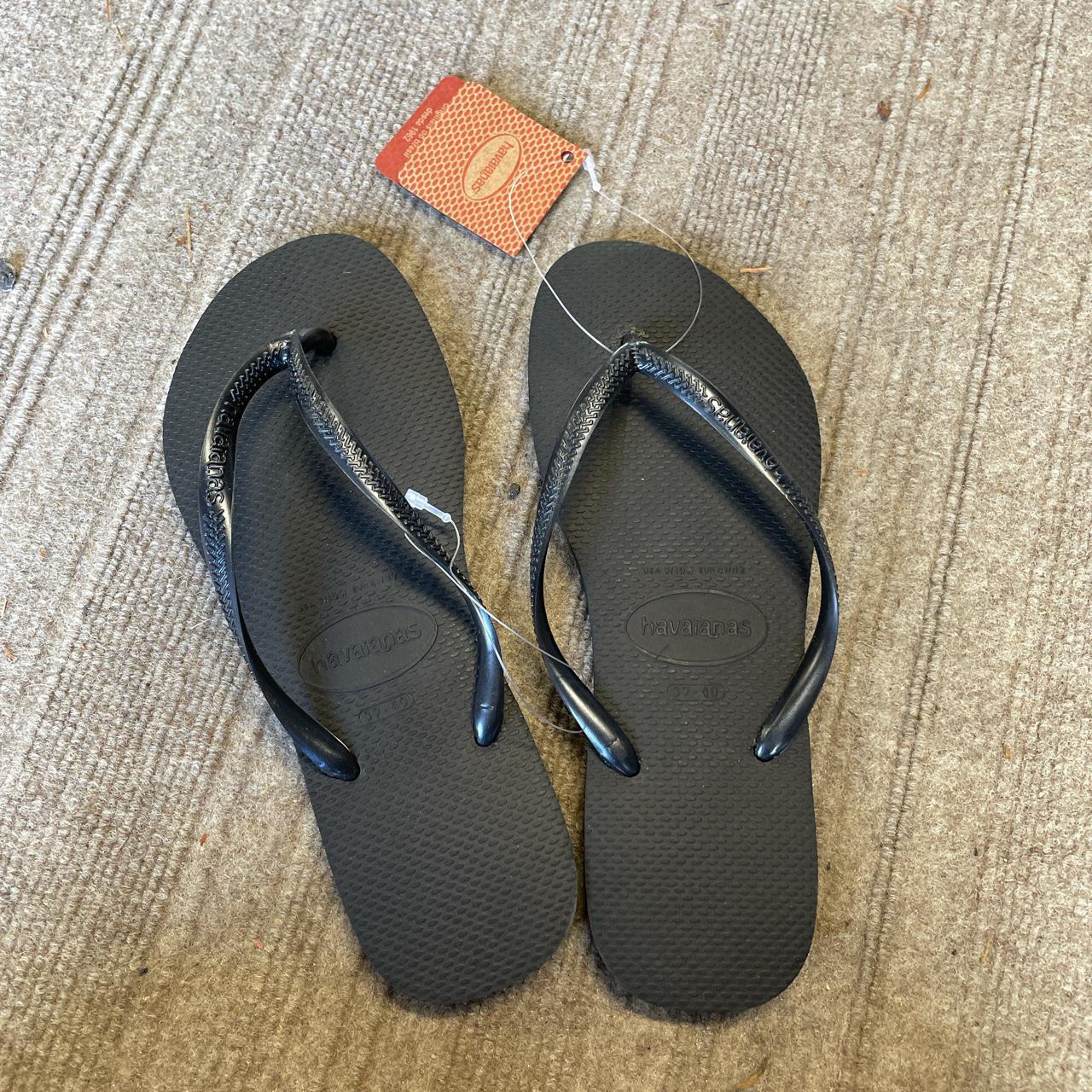 Product Image 1 - Black Havaiana's Flip Flops   ⭐️size