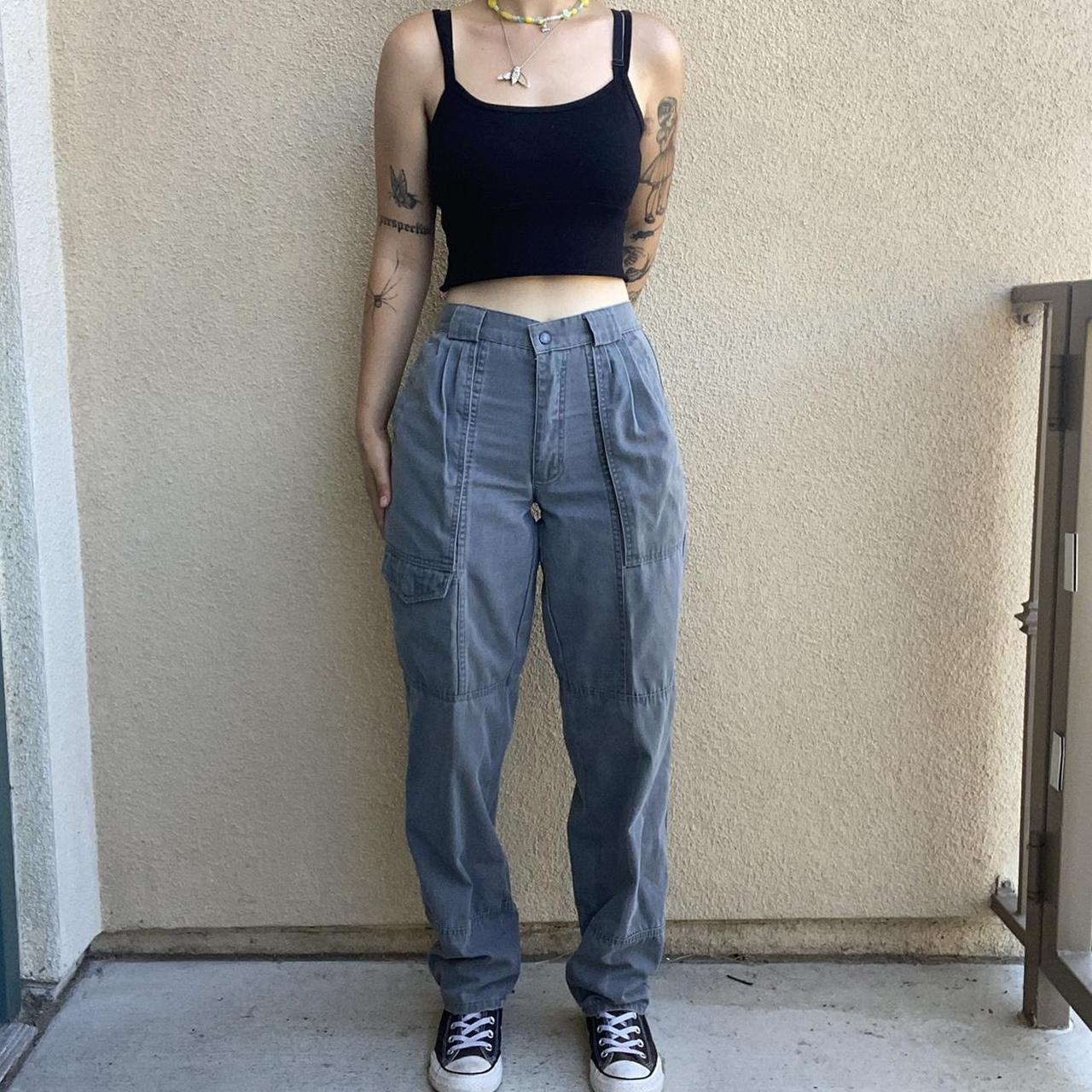 Product Image 1 - vintage grey trousers high waisted cargo