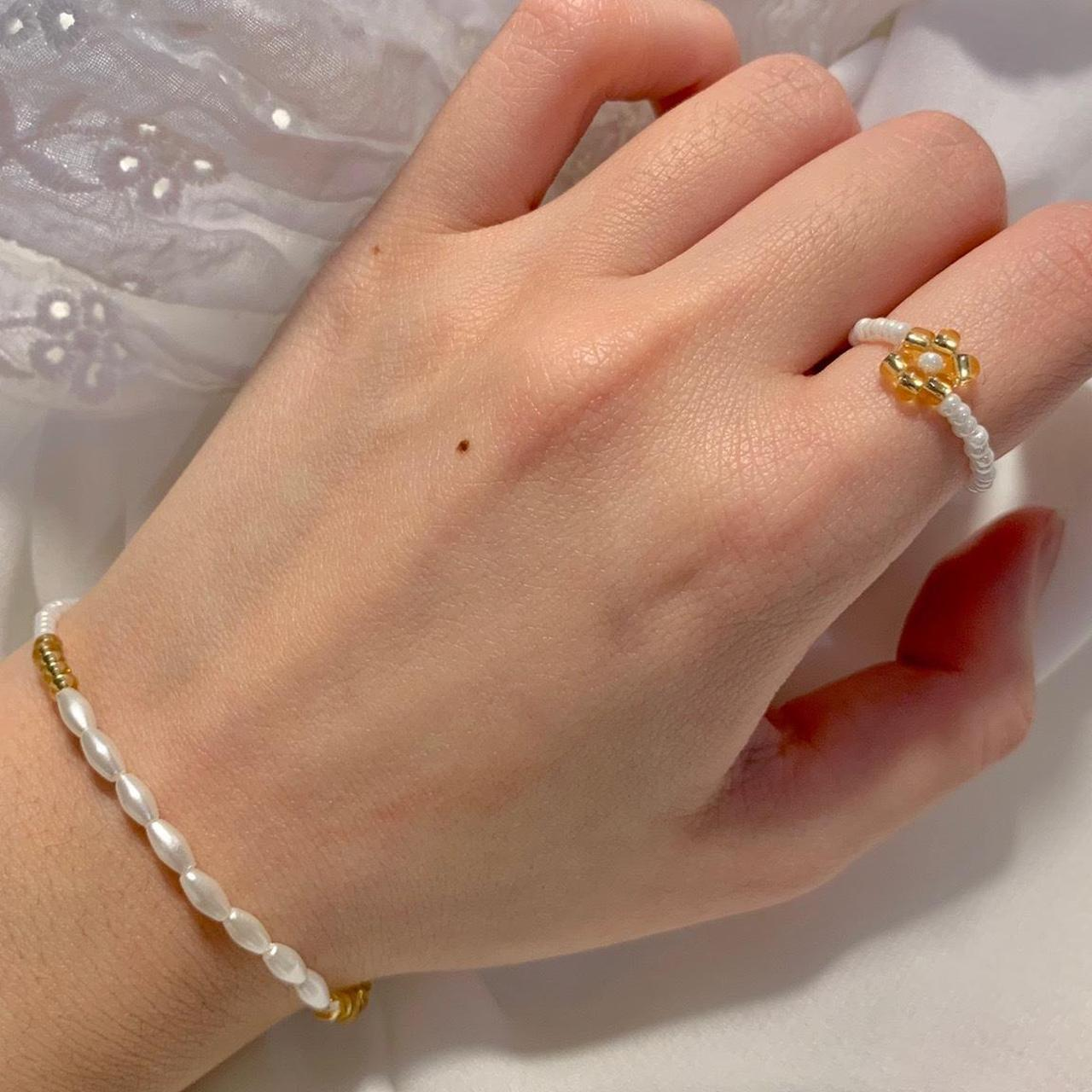 Product Image 1 - Dainty Gold Pearl Bracelet and