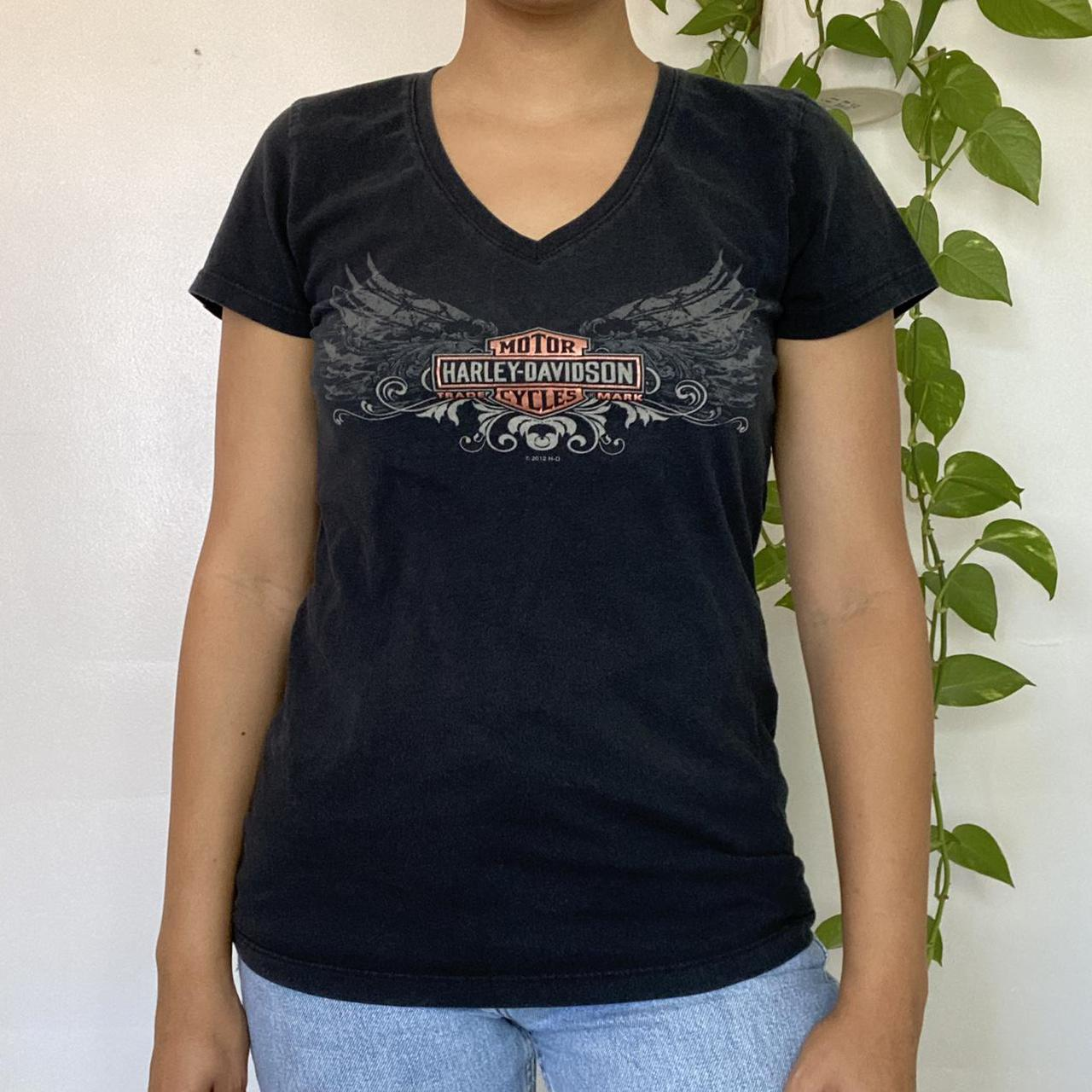 Product Image 1 - Harley Tee 🖤  V-neck Harley Davidson