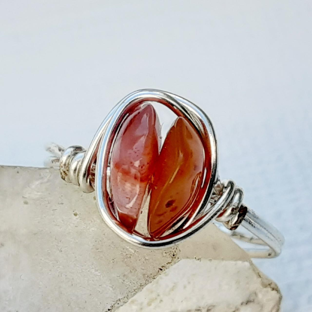 Product Image 1 - Crystal ring. Genuine polished Carnelian Agate
