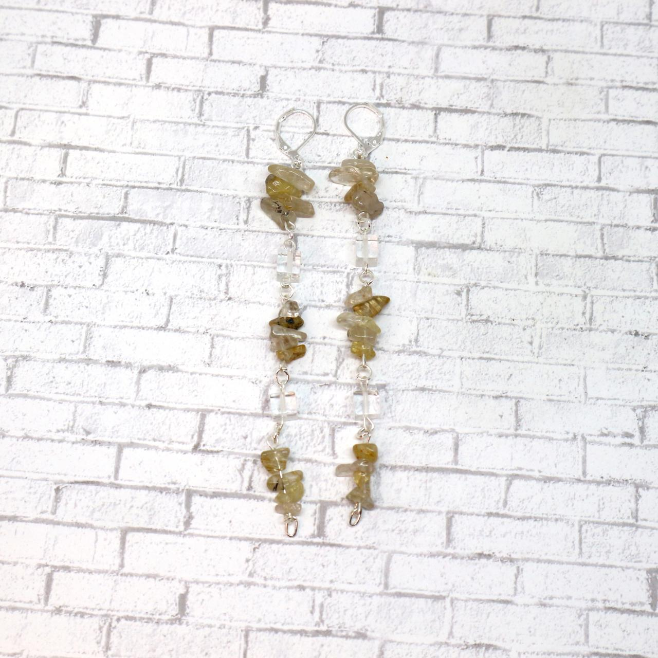 Product Image 1 - Stone Drip Earrings  Intricately woven chained