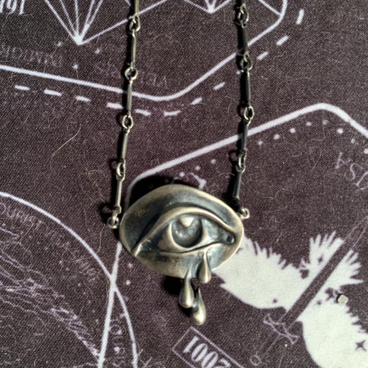 Product Image 1 - bloodmilk mourning eye necklace, large