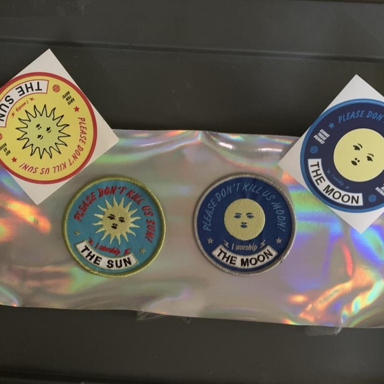 Product Image 1 - sun/moon patches and matching stickers.