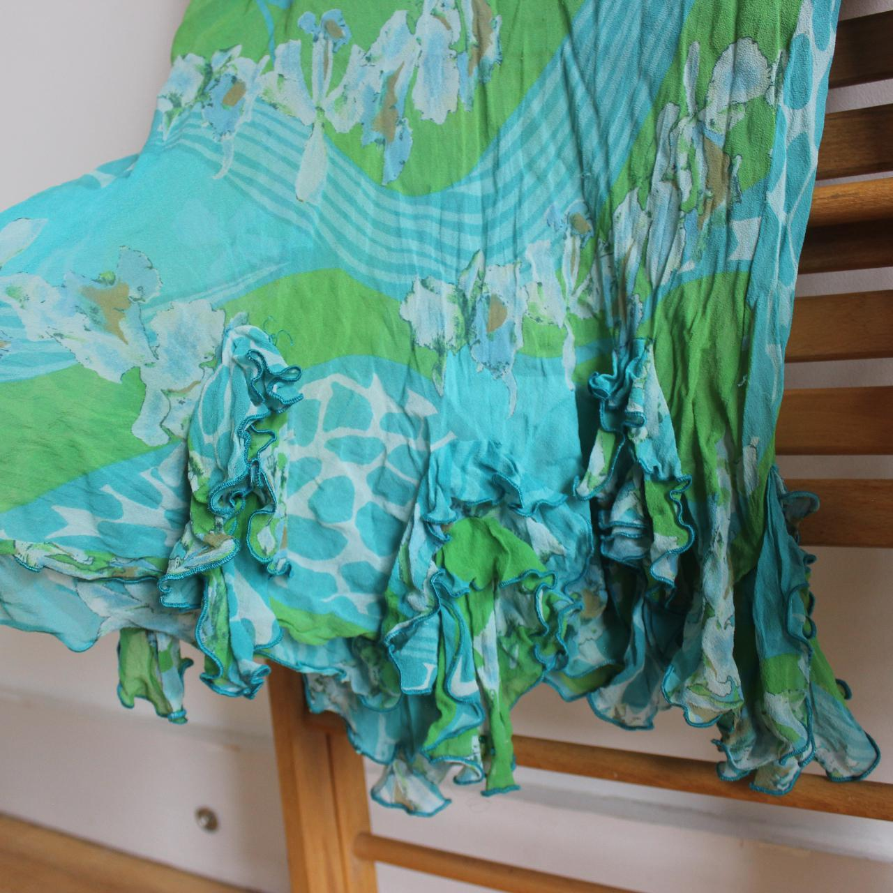 Product Image 1 - green blue midi skirt with