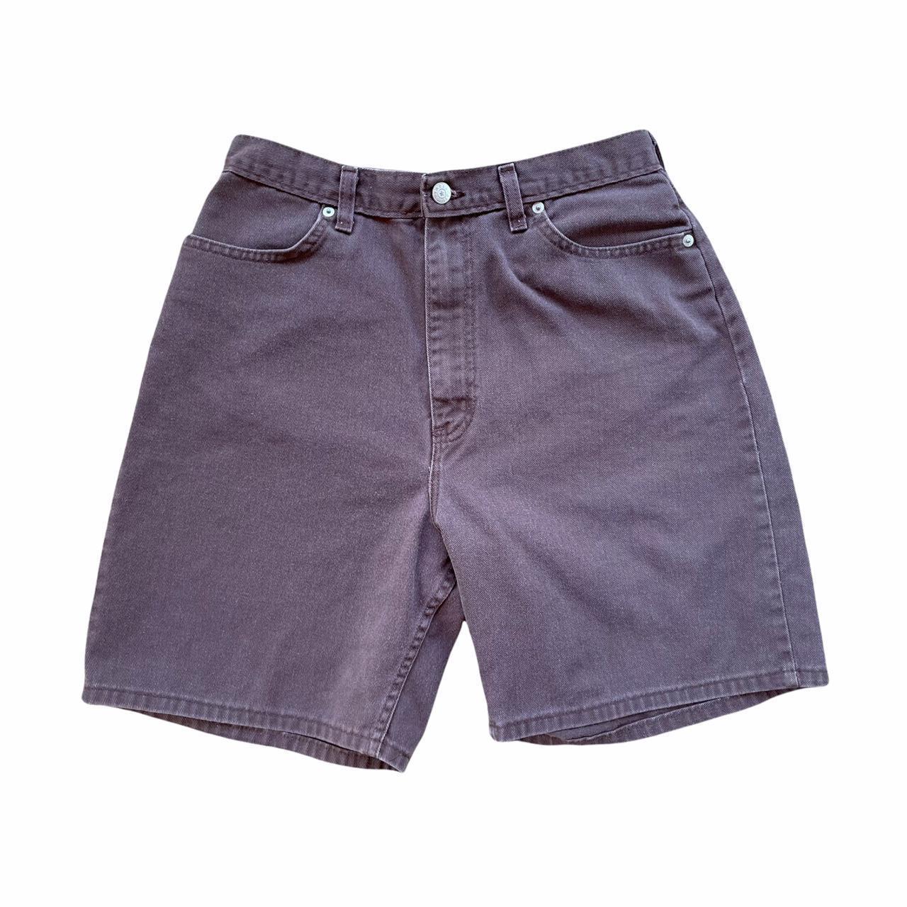 Product Image 1 - Vintage brown longline denim shorts.