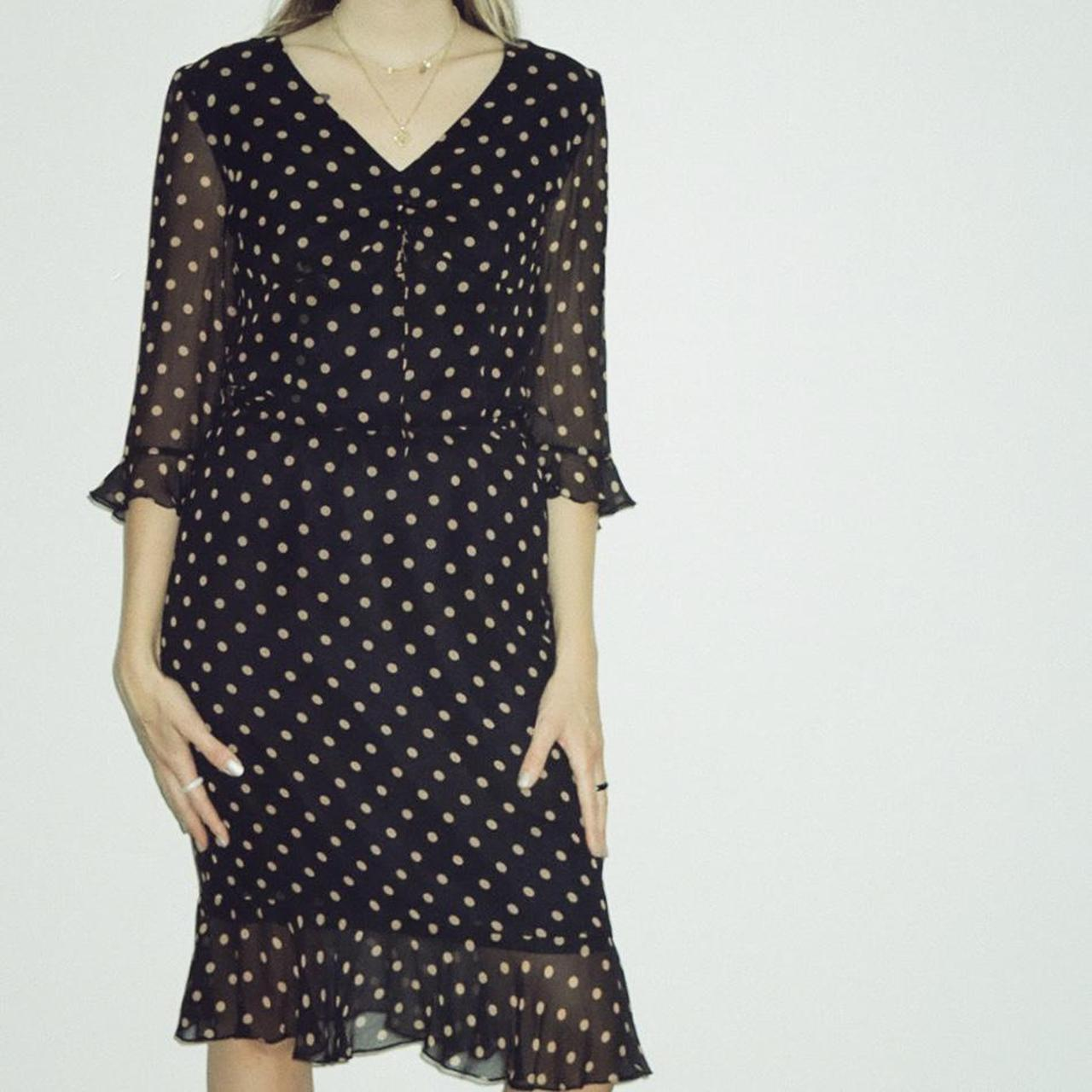 Product Image 1 - Silk Black And Tan Polka