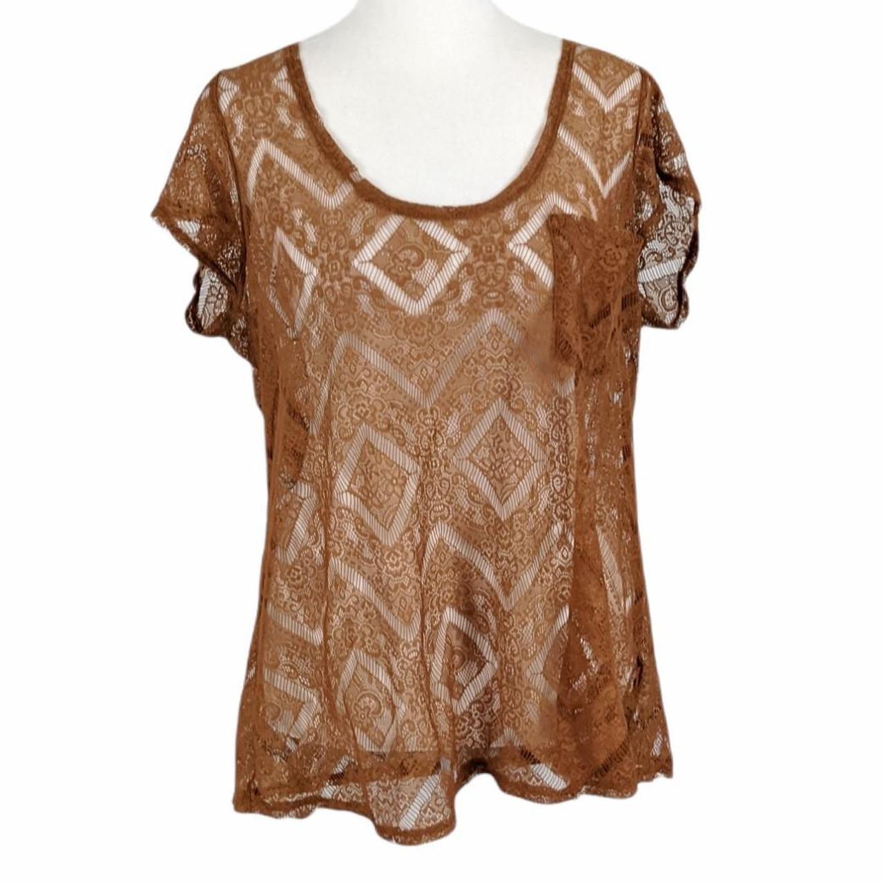 Product Image 1 - Sheer lace short sleeve shirt.