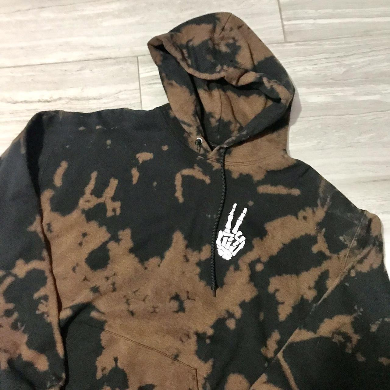Product Image 1 - Bleach Tie Dye Skeleton Hoodie  Size