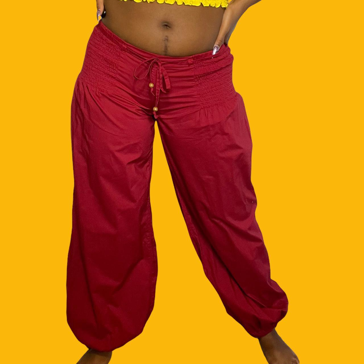 Product Image 1 - Burgundy low-rise Genie pants.   Size