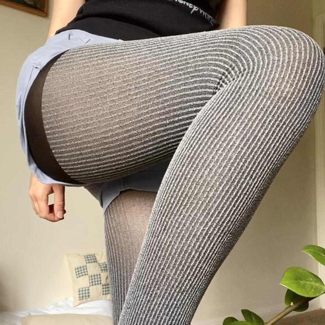 Product Image 1 - grey striped tights !!!! nice