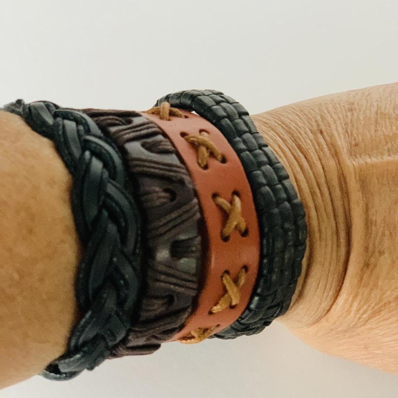 Product Image 1 - Set of 4 leather bracelets