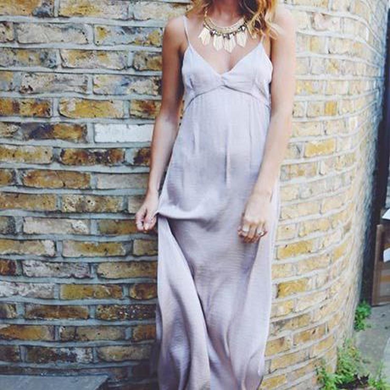 Product Image 1 - Pink satin maxi slip dress.