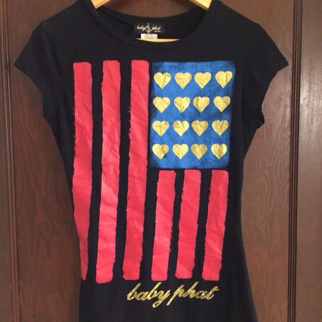 Product Image 1 - baby phat american flag t-shirt size: