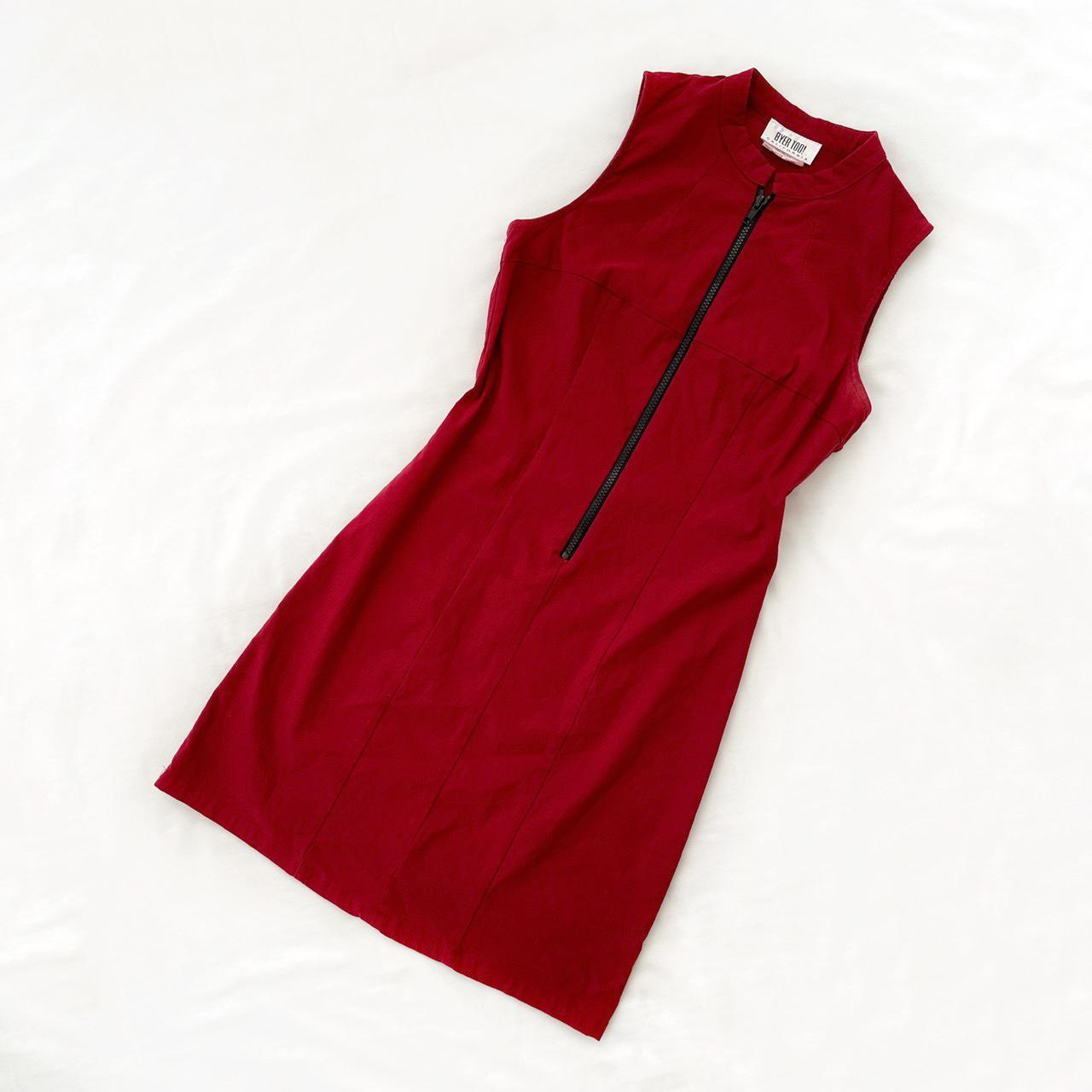 Product Image 1 - Vintage zip front bodycon red