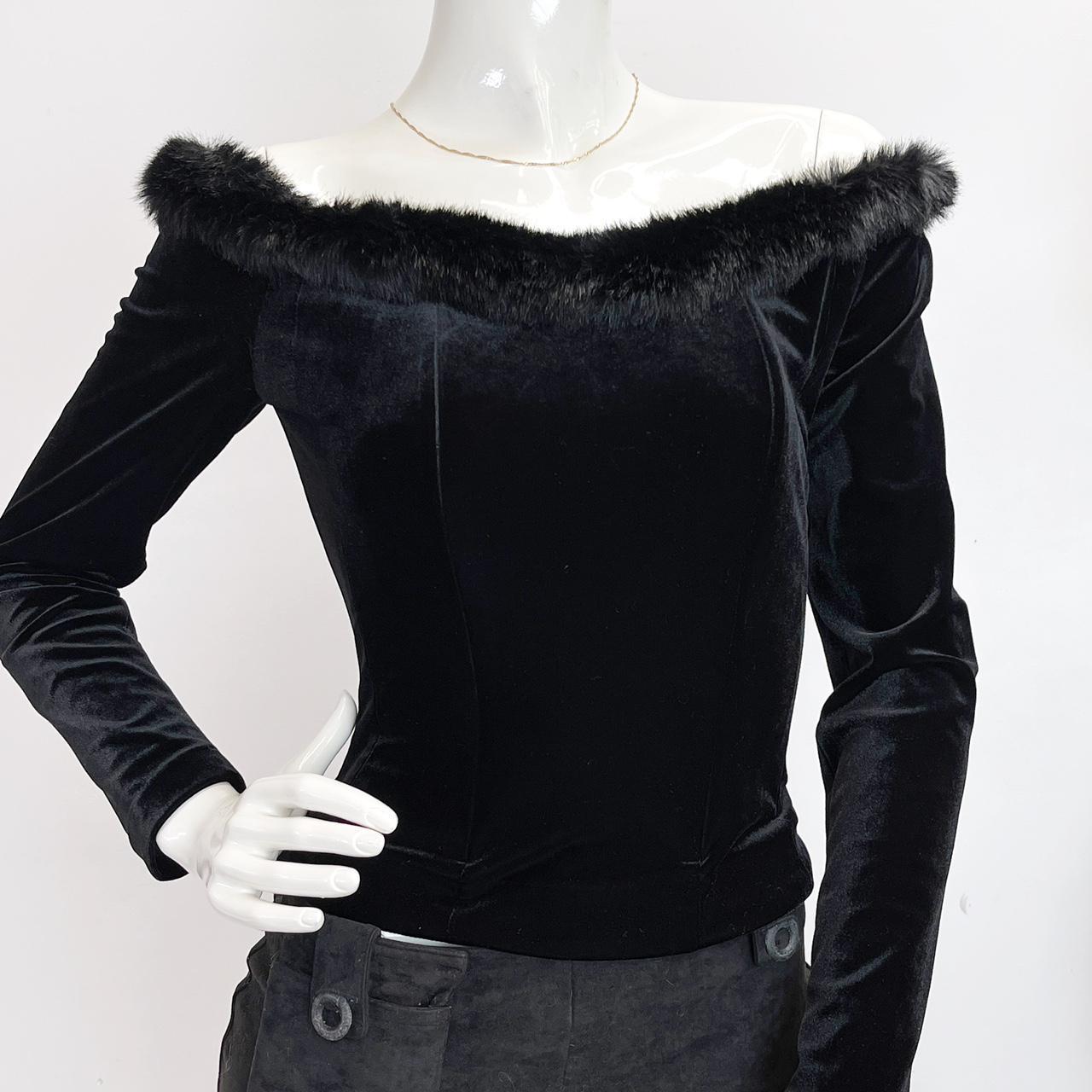 Product Image 1 - Vintage 90s black velvet corset