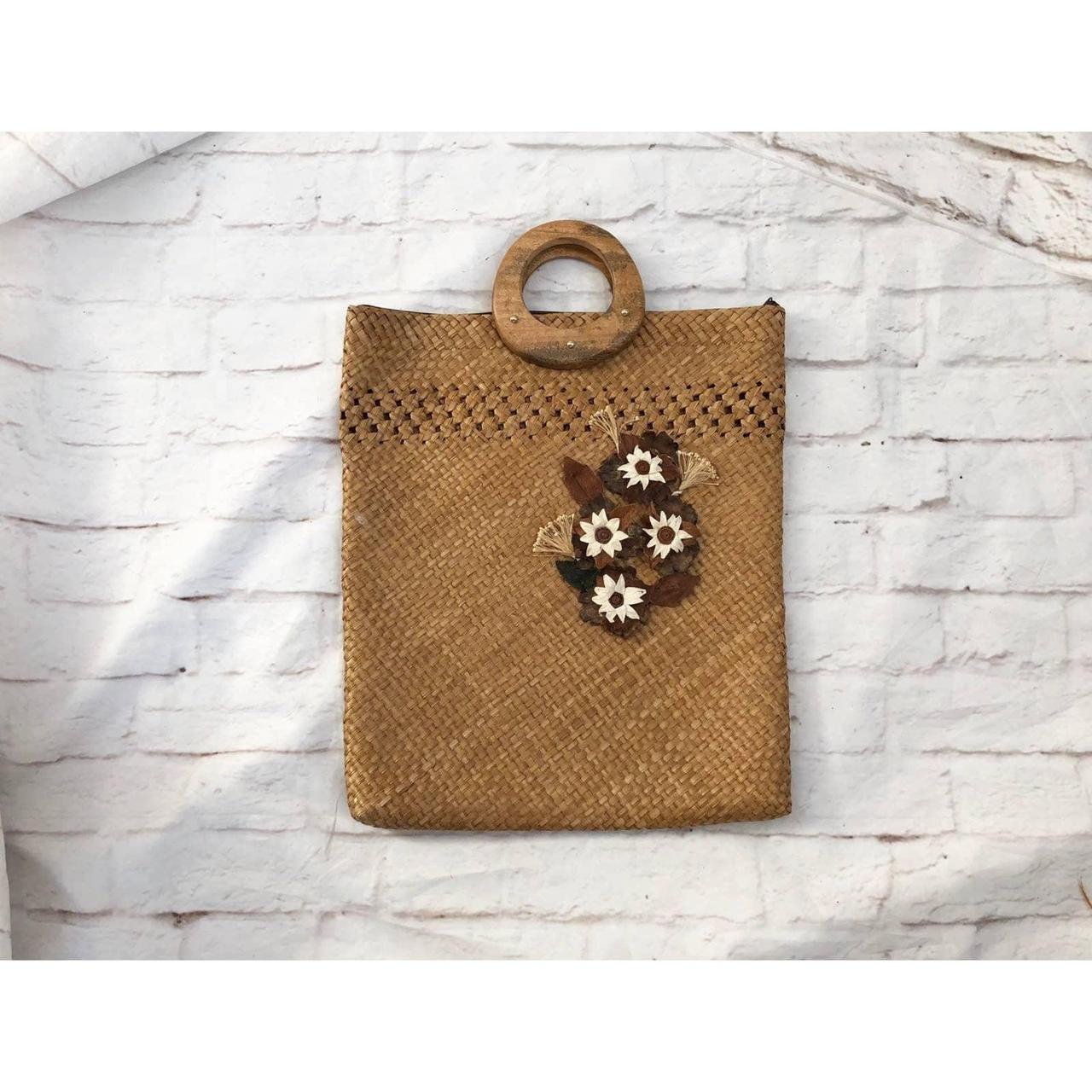 Product Image 1 - Vintage handmade woven straw tote